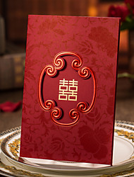 Plis Roulés Invitations de mariage 50-Cartes d'invitation Faire-Parts de Fiançailles Style artistique Carte Papier Rigide