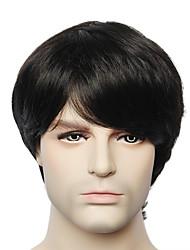 Недорогие -Человеческие волосы без парики Натуральные волосы Прямой / Естественные прямые Без шапочки-основы Парик / Прямой силуэт