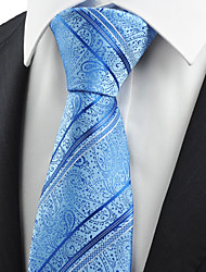 KissTies Men's Paisley Floral Striped Microfiber Tie Necktie Unique Wedding Holiday With Gift Box (4 Colors Available)