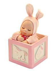 Недорогие -гончарные розовый / синий творческий романтическая музыкальная шкатулка для подарка