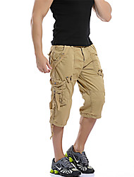cheap -New Fashion Mens Military Cargo Shorts Multi-Pocket Camouflage Short Pants Summer Men Outdoor Sports Cotton