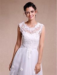 cheap -Sleeveless Lace Wedding Party Evening Women's Wrap With Lace Vests