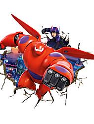 Tegneserie Former abstrakt fantasi 3D Vægklistermærker Fly vægklistermærker Dekorative Mur Klistermærker MaterialeKan fjernes Kan