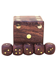 cheap -Royal St. Dice Completely Real Wood Hua Limu Dice Inlaid Copper Passengers On G151 Arrived/G151A Wooden Box With 22 Mm