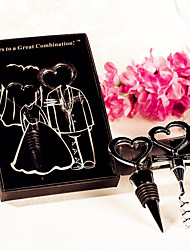 Practical Sweetheart Bottle Stopper and Opener Set barware set 50th Anniversary Favor Beter Gifts® Wedding Favours