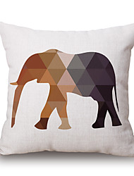 pcs Cotton/Linen Pillow Cover,Geometric Animal Print Graphic Prints Novelty Casual Modern/Contemporary