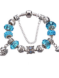 cheap -Antique Silver Plated Towl Pendant Beads Strands Bracelet #YMGP1020