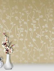 Fleur / 3D Fond d'écran pour la maison Contemporain Revêtement , PVC/Vinyl Matériel adhésif requis fond d'écran , Chambre Wallcovering