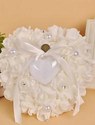 Bianco 1 Nastri Perle false Cristallo Raso