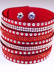 economico -Da donna Dell'involucro del braccialetto Bracciali in pelle Di tendenza stile della Boemia Adorabile bigiotteria Pelle Strass Diamanti