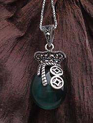 1 ensembles de sterling collier pendentif en argent grenat style folk de la mode