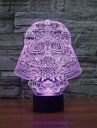 Недорогие -мода художественная 3d ночь свет искусства скульптуры водить, как подарок к празднику изменения цвета ночной свет