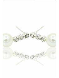 cheap -Lady Fashion Five Leaf Flowers Water Droplets Pearl Earrings