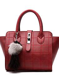 povoljno -Žene Torbe Svinjska koža Tote torbica za Vjenčanje Formalan Ured i karijera Sva doba Dark Blue Sive boje Crvena Lila-roza Tamno siva