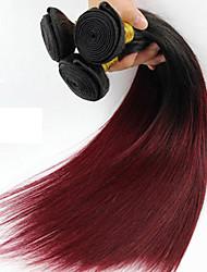 1 pedaço de cabelo humano reto tece textura brasileira o cabelo humano tece em linha reta
