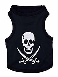 preiswerte -Katzen / Hunde Kostüme / T-shirt Schwarz Hundekleidung Sommer Modisch / Cosplay / Halloween