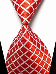 cheap -New Red plaid Men's Tie Formal Suit Necktie Wedding Holiday Gift TIE0017