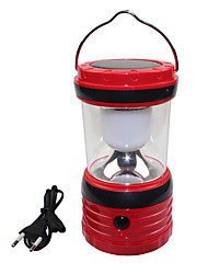 cheap -USB Output Solar 6 LED White Outdoor Camping Hiking Lantern Tent Lamp Light
