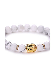 Women Men Fashion Bracelet Pulseras Mujer White Natural Stone Buddha Beads Bracelet  #YMGS1006 Christmas Gifts