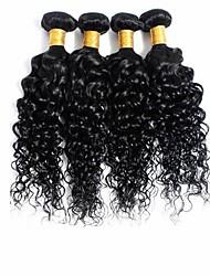 cheap -Brazilian Hair Curly Virgin Human Hair Natural Color Hair Weaves 4 Bundles Human Hair Weaves