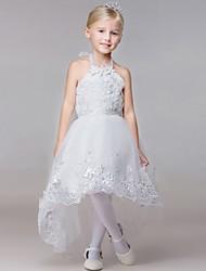 baratos -Vestido de vestidos de baile de vestidos com vestido de bola vestido de menina de flor - halter sem mangas rayon com beading by lovelybees