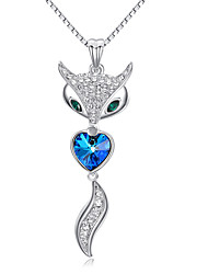 cheap -Women's Couple's Heart Evil Eye Crystal Crystal Cubic Zirconia Pendant Necklace - Cute Party Work Casual Love Heart Fashion Adorable