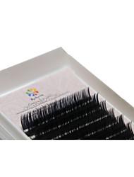 A Box Has 12 Rows of Eyelashes Silk Protein  Individual Lashes Eyes / Eyelash Thick Extended /  Handmade 12mm