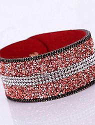 economico -Da donna Dell'involucro del braccialetto Bracciali in pelle Pelle Strass imitazione diamante Lega Di tendenza stile della Boemia Adorabile
