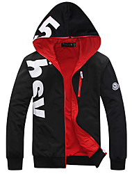 cheap -Men's Plus Size Sports Active Long Sleeves Slim Hoodie Jacket - Letter