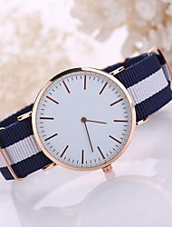 cheap -Korean Style Fabric Band White Case Analog Quartz Watch Jewelry for Men/Women Fashion Watch