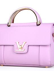 Women Bags All Seasons Cowhide Shoulder Bag for Formal Office & Career Black Gray Purple Blushing Pink Wine
