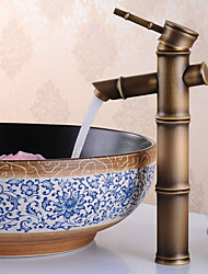 abordables -Antique Set de centre Séparé Soupape céramique Mitigeur un trou Bronze antique, Robinet lavabo