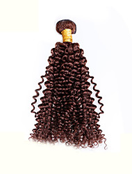 cheap -Brazilian Hair Classic / Kinky Curly Virgin Human Hair Natural Color Hair Weaves Human Hair Weaves