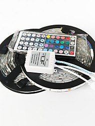 abordables -Zdm 10m (2 * 5m) 72w 300x5050 rgb leds strip flexible light et 44key (1bin2) ir kit de contrôle à distance dc12v