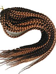 Недорогие -Спиральные плетенки Косы Box плетенки 100% волосы канеколон burgundy 1b / # 27 # 27 / # 613 1b / # 30 1b / # 33 45 см Волосы для кос