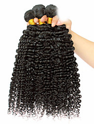 cheap -Mongolian Curly Weave Afro Kinky Curly Human Hair Weaves 3 Pieces 0.3