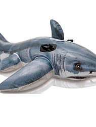 cheap -Cylindrical Fish Shark Animal Inflatable Pool Float Inflatable Ride-on Animals PVC Kid's