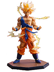 cheap -18CM Dragon Dall Z Action Figures Super Saiyan Son Goku PVC Collectible Toy Model