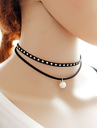 cheap -Women's Tattoo Style Sexy Fashion Choker Necklace Tattoo Choker Lace Fabric Choker Necklace Tattoo Choker , Daily Casual