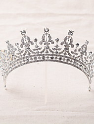 cheap -Rhinestone Alloy Tiaras Headbands Headwear with Floral 1pc Wedding Special Occasion Headpiece