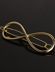 cheap -European Style Gold 8 Infinite  Shape Hair Clip Barrette Pins for Lady Casul Hair Jewelry