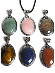 cheap -Women's Agate Pendant - Fashion Pendant Green / Blue / Pink For Daily
