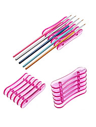 cheap -1pcs Nail Art Brush Holder Set Pen Displayer Stand Tools Acrylic UV Gel Brush Rest Holders for Nail Decorations