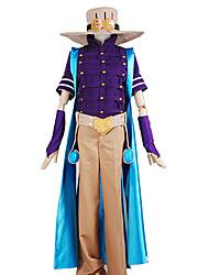 economico -Ispirato da Le bizzarre avventure di JoJo Zeppeli Anime Costumi Cosplay Abiti Cosplay Tinta unita Collage Top Pantaloni Accessori per