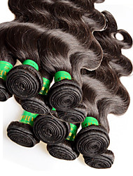 "cheap -10Pcs 1Kg Lot Wholesale Indian Virgin Hair Body Wave 10""~28"" 6A Unprocessed Human Hair Extensions Weft Color1B"
