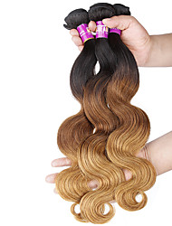 "3 Pcs /Lot 16""-24""7A 3TBrazilian Virgin Body Wave Hair Extensions 100% Unprocessed Virgin Human Ombre Hair Weaves"