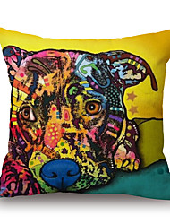 cheap -Cotton/Linen Pillow Case,Novelty / Wildlife / Animal Print / Graphic Prints Modern/Contemporary / Casual