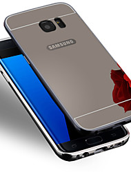 billiga -fodral Till Samsung Galaxy Samsung Galaxy S7 Edge Plätering Skal Enfärgad PC för S7 edge / S7 / S6 edge plus