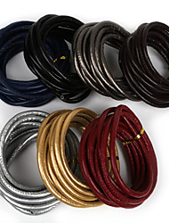 Beadia 6mm Sewed PU Leather Cord Rope String For DIY Jewelry Necklace Bracelet Craft Making(3Mts)