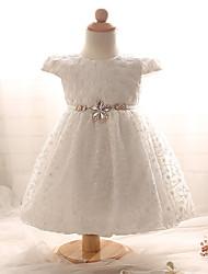 bebê Vestido,Casual Cor Única Algodão-Verão